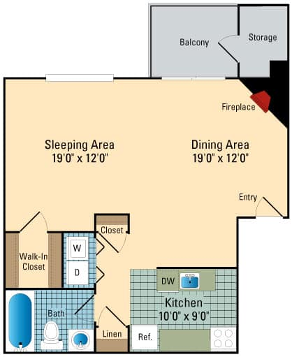Luna Pointe Apartments Floor Plans Hampton 1
