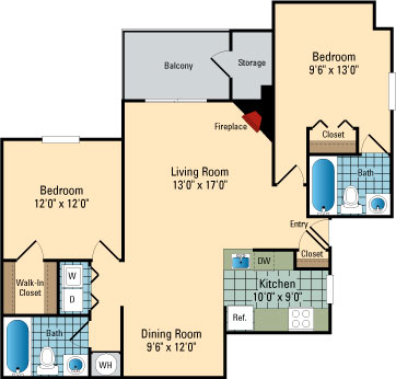 Luna Pointe Apartments Floor Plans Hampton 2