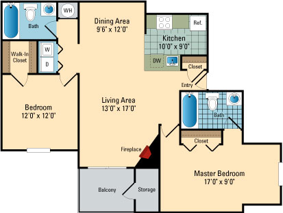 Luna Pointe Apartments Floor Plans Hampton 3